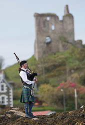 Day two of the Silvers Marine Scottish Series 2015, the largest sailing event in Scotland organised by the  Clyde Cruising Club<br /> Racing on Loch Fyne from 22rd-24th May 2015<br /> <br /> The Lone piper sending the sailors off at the entrance of the Harbour<br /> <br /> Credit : Marc Turner / CCC<br /> For further information contact<br /> Iain Hurrel<br /> Mobile : 07766 116451<br /> Email : info@marine.blast.com<br /> <br /> For a full list of Silvers Marine Scottish Series sponsors visit http://www.clyde.org/scottish-series/sponsors/