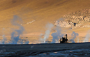 Abandoned desalination equipment, Tatio Geysers, Antofagasta Regain, Atacama Desert, Chile, South America