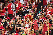 San Francisco 49ers fans cheer during a game against the Arizona Cardinals at Levi's Stadium in Santa Clara, Calif., on October 6, 2016. (Stan Olszewski/Special to S.F. Examiner)