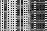 Skyscraper block of flats in the Gorbals area of Glasgow emptied ahead of demolation to pave the way for modern housing.