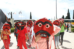 May 5, 2017 - Spain - Iberian mask parade in Lisbon with 37 groups off traditional masks off  Portugal ,Colombia ,Spain and Peru. (Credit Image: © Mercedes Menendez/Pacific Press via ZUMA Wire)