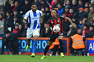 Nathaniel Clyne (23) of AFC Bournemouth is closed down by Jurgen Locadia (9) of Brighton and Hove Albion during the The FA Cup 3rd round match between Bournemouth and Brighton and Hove Albion at the Vitality Stadium, Bournemouth, England on 5 January 2019.