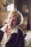 Portrait de personnes agees // Portrait of an elderly woman. France