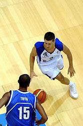 06-09-2006 BASKETBAL: NEDERLAND - SLOWAKIJE: GRONINGEN<br /> De basketballers hebben ook de tweede wedstrijd in de kwalificatiereeks voor het Europees kampioenschap in winst omgezet. In Groningen werd een overwinning geboekt op Slowakije: 71-63 / Jouke Pots<br /> ©2006-WWW.FOTOHOOGENDOORN.NL