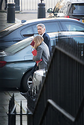 Downing Street, London, January 17th 2017. Chancellor of the Exchequer Philip Hammond leaves 10 Downing Street following the weekly cabinet meeting, ahead of Prime Minister Theresa May's key Brexit speech.