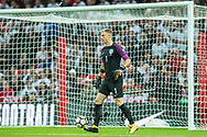 England (1) Joe Hart during the FIFA World Cup Qualifier match between England and Slovenia at Wembley Stadium, London, England on 5 October 2017. Photo by Sebastian Frej.