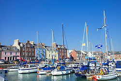 Boat Yachts harbour Arbroath Scotland houses