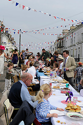 Brighton, UK. 29/04/2011. The Royal Wedding of HRH Prince William to Kate Middleton. Long tables at a West Hill street party in Brighton. Photo credit should read: Peter Webb/LNP. Please see special instructions for licensing information. © under license to London News Pictures
