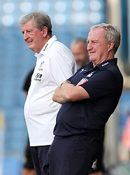 Crystal Palace manager Roy Hodgson (left) and assistant manager Ray Lewington during a pre season friendly match at The Kassam Stadium, Oxford