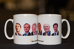 © Licensed to London News Pictures . 08/03/2014 . York , UK . Lib Dem mugs for sale in the exhibition space . The second day of the Liberal Democrat Spring Conference today (Saturday 8th March 2014) . Photo credit : Joel Goodman/LNP