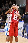 DESCRIZIONE : Campionato 2014/15 Serie A Beko Dinamo Banco di Sardegna Sassari - Giorgio Tesi Group Pistoia<br /> GIOCATORE : Brian Sacchetti Tony Easley<br /> CATEGORIA : Post Game Postgame Fair Play<br /> EVENTO : LegaBasket Serie A Beko 2014/2015 <br /> GARA : Dinamo Banco di Sardegna Sassari - Giorgio Tesi Group Pistoia<br /> DATA : 01/02/2015 <br /> SPORT : Pallacanestro <br /> AUTORE : Agenzia Ciamillo-Castoria/C.Atzori <br /> Galleria : LegaBasket Serie A Beko 2014/2015