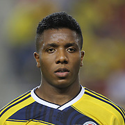 Carlos Carbonero, Columbia, during the Columbia Vs Canada friendly international football match at Red Bull Arena, Harrison, New Jersey. USA. 14th October 2014. Photo Tim Clayton