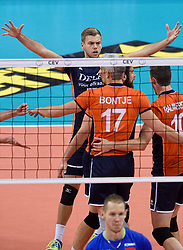 Gijs Jorna #7 during volleyball match between National teams of Netherlands and Slovenia in Playoff of 2015 CEV Volleyball European Championship - Men, on October 13, 2015 in Arena Armeec, Sofia, Bulgaria. Photo by Ronald Hoogendoorn / Sportida