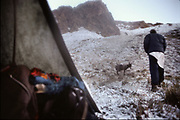 Snowy morning. Matthieu and Mareile Paley trekking with a donkey named Clementine over 5 high passes across the Hindukush, between Pakistan and Afghanistan.
