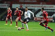 Jesse Lingard of England makes a break. UEFA 2015 European U21 championship, group one qualifier , Wales u21 v England u21 at the Liberty Stadium in Swansea, South Wales on Monday 19th May 2014. <br /> pic by Andrew Orchard, Andrew Orchard sports photography.