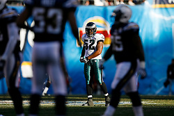 Philadelphia Eagles linebacker Tracy White #52 during the NFL game between the Philadelphia Eagles and the San Diego Chargers on November 15th 2009. At Qualcomm Stadium in San Diego, California. (Photo By Brian Garfinkel)