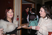 Jessie Wallace and Jill Halfpenny, Opening night of Dralion. Cirque de Soleil's 20th anniversary. Royal Albert Hall. 6 jan 2005. ONE TIME USE ONLY - DO NOT ARCHIVE  © Copyright Photograph by Dafydd Jones 66 Stockwell Park Rd. London SW9 0DA Tel 020 7733 0108 www.dafjones.com