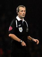 Photo: Alan Crowhurst.<br />West Ham v Liverpool. The Barclays Premiership. 30/01/07. Referee Martin Atkinson.