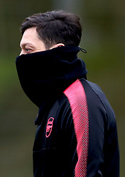 Arsenal's Mesut Ozil during the training session at London Colney, Hertfordshire.