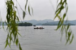 HANGZHOU, Sept. 7, 2016 (Xinhua) -- A tourist boat is seen on the West Lake in Hangzhou, capital of east China's Zhejiang Province, Sept. 7, 2016. (Xinhua/Huang Zongzhi) (wf) (Credit Image: © Huang Zongzhi/Xinhua via ZUMA Wire)
