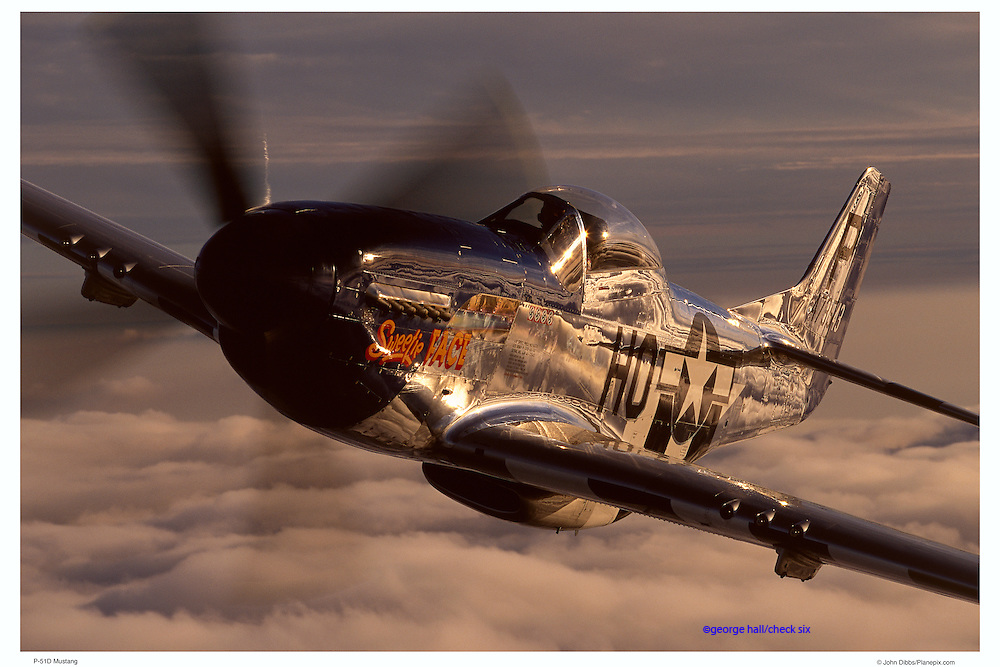 P-51D Mustang, air-to-air close up