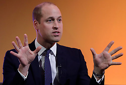 November 20, 2018 - London, United Kingdom - Britain's Prince William, The Duke of Cambridge, speaks on stage during a panel discussion at the inaugural 'This Can Happen' conference in London.The conference brings together hundreds of delegates from the UK and further afield to share best practice in multiple different mental health fields. (Credit Image: © Pool/i-Images via ZUMA Press)