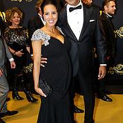NLD/Amsterdam/20121019- Televiziergala 2012, zwangere Aicha Kasimbeg - Marghadi en partner Shareef Kasimbeg