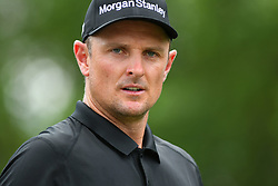 May 4, 2019 - Charlotte, NC, U.S. - CHARLOTTE, NC - MAY 04: Justin Rose just after playing the 3rd tee during round three of the Wells Fargo Championship on May 04, 2019 at Quail Hollow Club in Charlotte,NC. (Photo by Dannie Walls/Icon Sportswire) (Credit Image: © Dannie Walls/Icon SMI via ZUMA Press)
