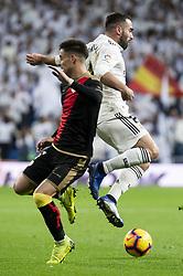 December 15, 2018 - Madrid, Spain - Dani Carvajal of Real Madrid and Alex Moreno of Rayo Vallecano during La Liga match between Real Madrid and Rayo Vallecano at Santiago Bernabeu Stadium in Madrid, Spain. December 15, 2018. (Credit Image: © Coolmedia/NurPhoto via ZUMA Press)