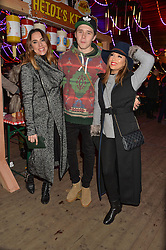 Left to right, MEL C, BROOKLYN BECKHAM and EVA LONGORIA at the Hyde Park Winter Wonderland - VIP Preview Night, Hyde Park, London on 17th November 2016.