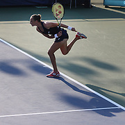 Magdalena Rybarikova, Slovakia, during her vistory over Flavia Pennetta, Italy,  in the first round of the Connecticut Open at the Connecticut Tennis Center at Yale, New Haven, Connecticut, USA. 24th August 2015. Photo Tim Clayton
