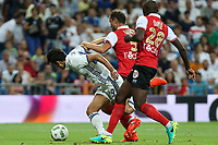 during the XXXVII Bernabeu trophy between Real Madrid and Stade de Reims at the Santiago Bernabeu Stadium. August 15, 2016. (ALTERPHOTOS/Rodrigo Jimenez)