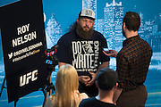 DALLAS, TX - MARCH 12:  Roy Nelson speaks with the media during the UFC 185 Ultimate Media Day at the American Airlines Center on March 12, 2015 in Dallas, Texas. (Photo by Cooper Neill/Zuffa LLC/Zuffa LLC via Getty Images) *** Local Caption *** Roy Nelson