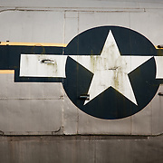 The Star on a decommissioned Air Transport Command aircraft at North Weald Airfield near Epping.