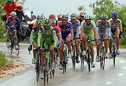 First group climbing to Krvavec during 3rd stage of the 15th Tour de Slovenie from Skofja Loka to Krvavec (129,5 km) , on June 13,2008, Slovenia. (Photo by Vid Ponikvar / Sportal Images)/ Sportida)