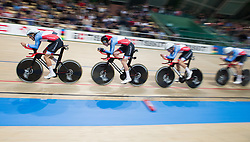 February 28, 2019 - Pruszkow, Poland - Derek Gee (CAN),Michael Foley (CAN),Adam Jamieson (CAN),Jay Lamoureux (CAN) on day two of the UCI Track Cycling World Championships held in the BGZ BNP Paribas Velodrome Arena on February 28, 2019 in Pruszkow, Poland. (Credit Image: © Foto Olimpik/NurPhoto via ZUMA Press)
