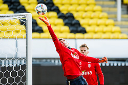 October 9, 2018 - LillestrØM, NORWAY - 181009 Goalkeeper Rune Almenning Jarstein and goalkeeper Ørjan HÃ¥skjold Nyland of Norway during a training session on October 9, 2018 in Lillestrøm..Photo: Jon Olav Nesvold / BILDBYRÃ…N / kod JE / 160321 (Credit Image: © Jon Olav Nesvold/Bildbyran via ZUMA Press)