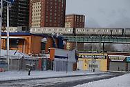New York. Brooklyn. Coney island in winter .