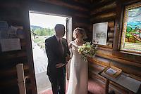 Wedding — Holly Scott and James Laukkonen. Ceremony: Chapel of the Transfiguration. Reception: Jackson Lake Lodge, Grand Teton National Park, Wyo.