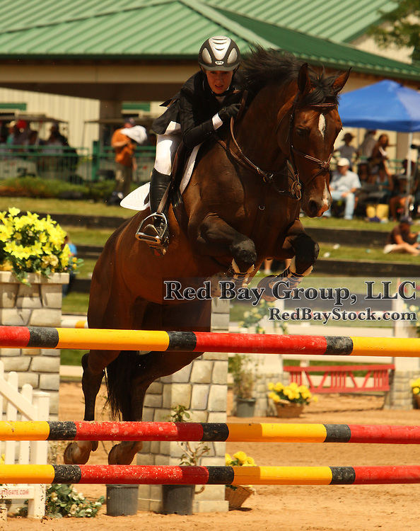 Kim Denroche and Ralocia at the 2008 CN North American Junior & Young Rider Championships at The Colorado Horse Park Presented by Gotham North