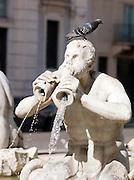 Baroque sculpture in Piazza Navona, Rome, Italy.