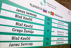 Draw of Davis cup - Slovenia vs Portugal on January 30, 2014 in City Hall Kranj, Slovenia. Photo by Vid Ponikvar / Sportida