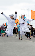 02/07/2017 REPRO FREE: Lisa O'Farrell and Blue Hanley all dressed up in Galway  for Seafest 2017, the National Maritime Festival which ran at the weekend .<br /> . Photo:Andrew Downes, xposure .