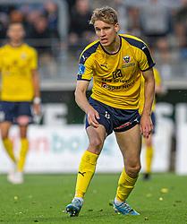 Jesper Bøge (Hobro IK) under kampen i 3F Superligaen mellem Lyngby Boldklub og Hobro IK den 20. juli 2020 på Lyngby Stadion (Foto: Claus Birch).