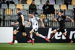 Ziga Kous of NS Mura during football match between NS Mura and Rennes (FRA) in group stage of UEFA Europa Conference League 2021/22, on 20 of October, 2021 in Ljudski Vrt, Maribor, Slovenia. Photo by Blaž Weindorfer / Sportida