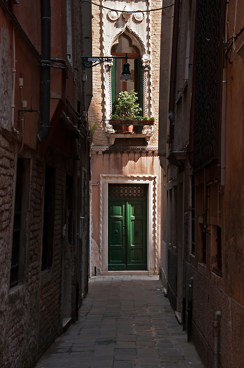 A view of the small alleyway, Venice.