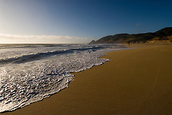 Montara Beach,.San Mateo Coast of California, south of San Francisco.  Photo copyright Lee Foster, 510-549-2202, lee@fostertravel.com, www.fostertravel.com.  Photo 413-30843
