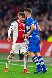 13-03-2019 NED: Ajax - PEC Zwolle, Amsterdam<br /> Ajax has booked an oppressive victory over PEC Zwolle without entertaining the public 2-1 / Nicolas Tagliafico #31 of Ajax, Vito van Crooij #7 of PEC Zwolle