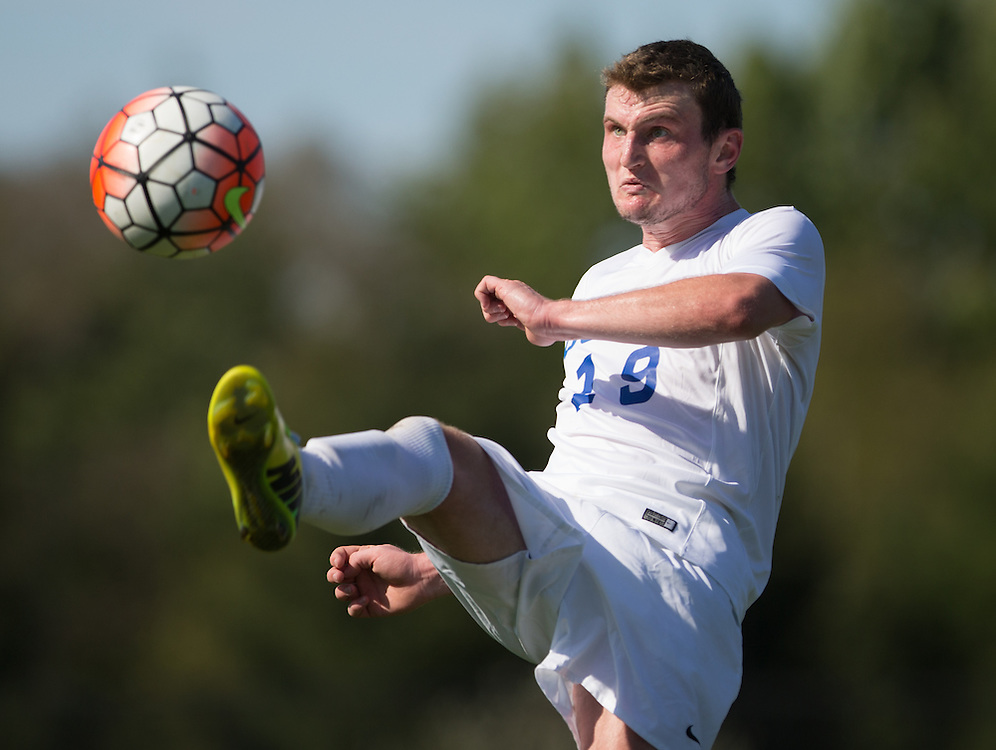 Fred Randall of Colby College during a NCAA Division III soccer game against Williams College on September 19, 2015 in Waterville, ME. (Dustin Satloff/Colby College Athletics)