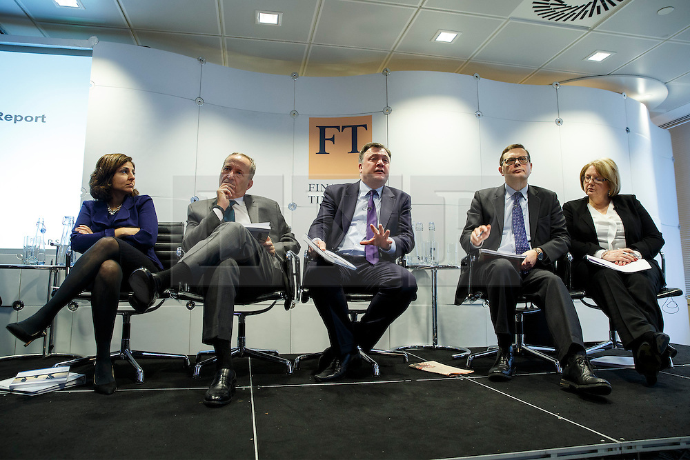 © Licensed to London News Pictures. 19/01/2015. LONDON, UK. UK launch of the Commission on Inclusive Prosperity's report takes place at Financial Times HQ in London with Ed Balls, Labour's Shadow Chancellor and Larry Summers, former US Treasury Secretary and former Director of the National Economic Council for President Obama. Photo credit : Tolga Akmen/LNP